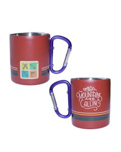 10 oz. Carabiner Cup- Mountains are Calling
