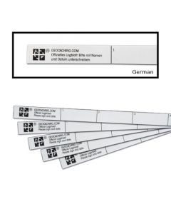 graphic relating to Geocache Log Strips Printable identify Geocaching Logbooks and Log Strips