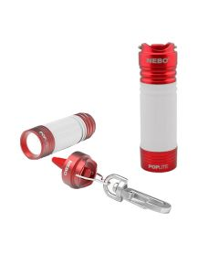 Poplite Compact Keychain Light and Lantern - Red