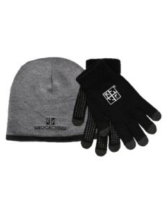 Geocaching Logo Beanie & Gloves Set