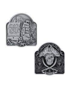 2019 Pirate Geocoin- Antique Silver
