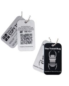 NEW Geocaching QR Travel Bug® - Black