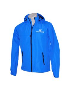 Waterproof Geocaching Rain Jacket- Blue