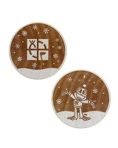 Wooden Nickel SWAG Coin- Signal in the Snow!