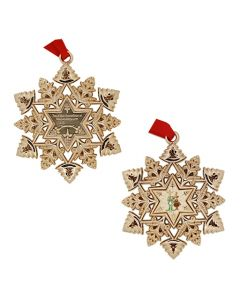 Snowflake Ornament Geocoin- Signal and a Reindeer