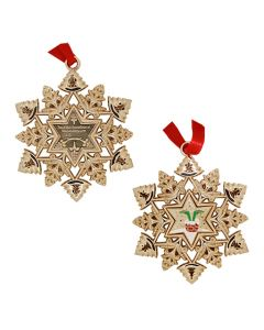 Snowflake Ornament Geocoin- Signal in the Chimney