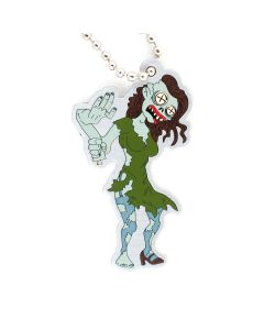 Tiffany the Zombie Halloween Travel Tag