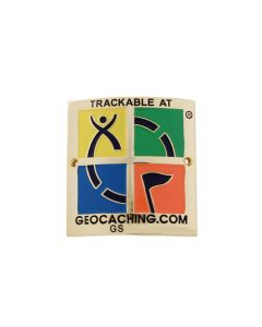 Trackable Hiking Stick Medallion- 4 Color