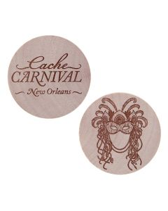 Cache Carnival Wooden Nickel SWAG Coin- New Orleans
