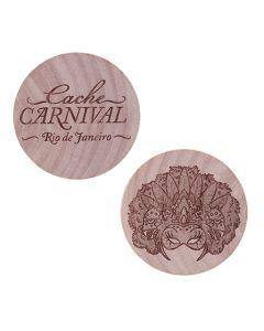 Cache Carnival Wooden Nickel SWAG Coin- Rio de Janeiro