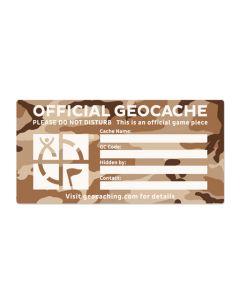 X-Large Cache Label- Desert Camo