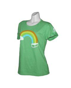 Ladies Trackable Rainbow Cache Tee - Green Apple