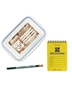 Official Large Geocache with Logbook and Pencil - Desert Camo