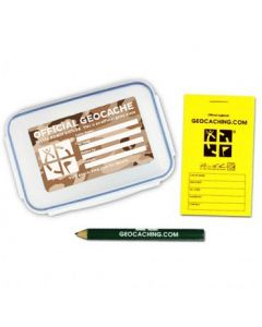 Official Medium Geocache with Logbook and Pencil - Desert Camo