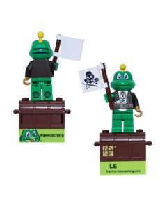 """Pirate Torso kit with Signal the Frog® 2"""" Figure and Trackable Brick!"""