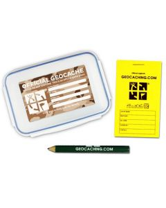 Official Small Geocache with Logbook and Pencil - Desert Camo