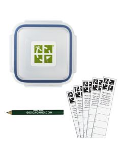 Official X-Small Geocache with Log Strips and Pencil