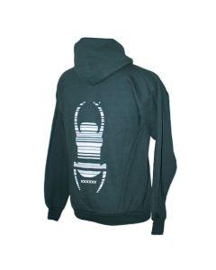 Trackable Travel Bug® Full Zip Hoodies- Dark Green