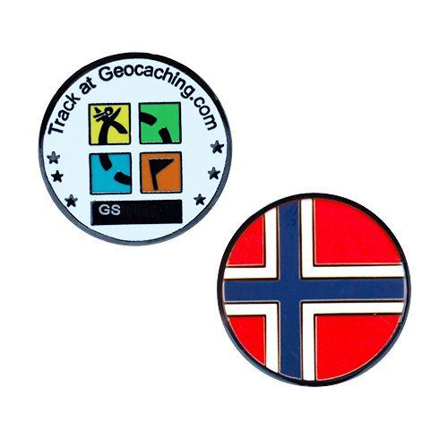 country micro geocoin norway rh shop geocaching com Geocaching Clip Art Geocaching Logo Green