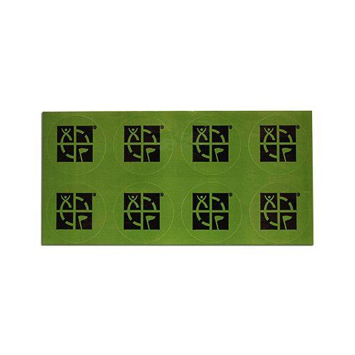 8 Pack 1 Round Geocaching Logo Mini Sticker Greenblack