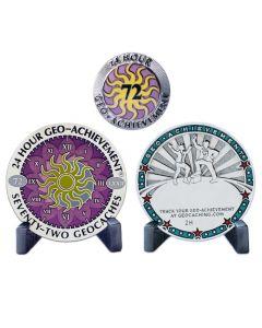 24 Hour - 72 Caches Geo-Achievement® Award Set