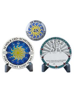 24 Hour - 48 Caches Geo-Achievement® Award Set