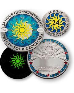 24 Hour - 24 Caches Geo Achievement® Award Set