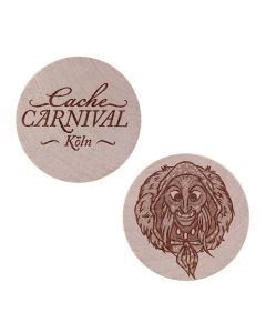 Cache Carnival Wooden Nickel SWAG Coin- Koln