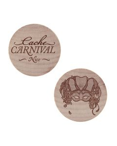 Cache Carnival Wooden Nickel SWAG Coin- Nice