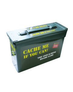 Metal Cache Me If You Can Board Game-  Collector's Edition with Free Zombie Expansion Pack!