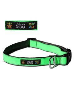 Log My Dog Collar – Max Reflective Green