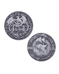 Pirate's Day Geocoin- Antique Silver