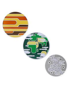 Solar System Geocoin Set - Mercury, Venus, Earth