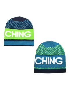 Reversable Knit Beanie- Blue/Green