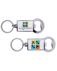 Geocaching Trackable Key Chain Bottle Opener