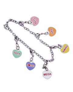 """I Heart GC"" Trackable Charm Bracelet"
