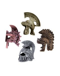 Roman Warrior Helmet Geocoin Set- 4 Helmets