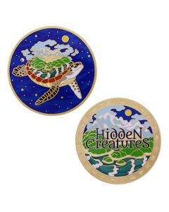 Hidden Creatures Full Size Geocoin and Trackable Tag Set