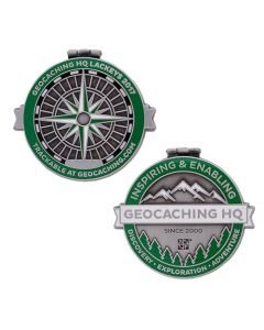 2017 Lackey Geocoin / Tag Set - Antique Silver
