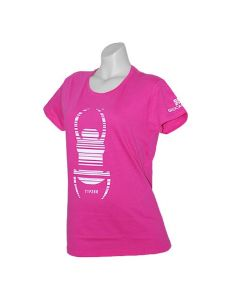 Ladies Trackable Travel Bug® T-Shirt- Pink