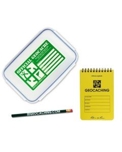 Official Large Geocache with Logbook & Pencil