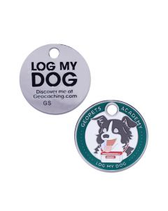 Geopets Academy- Log my Dog Travel Tag