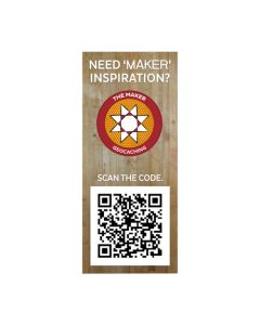 Maker Madness QR Sticker