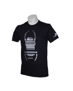 Trackable Travel Bug® T-Shirt- Black with Silver Foil