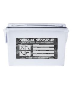 Clear Ammo Can Cache Container - Urban Camo