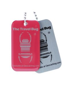 Geocaching QR Travel Bug® - Atomic Pink