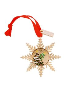 Gold Signal the Frog® Ornament Geocoin- Christmas Tree