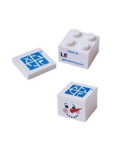 Trackable Snowman Brick- 2 x 2
