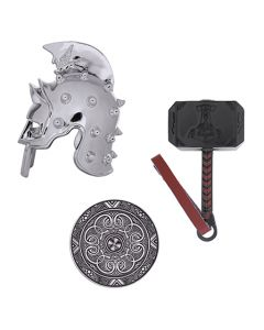 Geocaching Warrior Set- Hammer, Helmet and Shield
