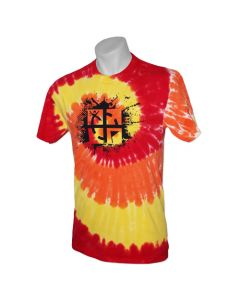 Cache Attack Tie Dye Tee- Blaze Rainbow (size Small, Medium and Large)